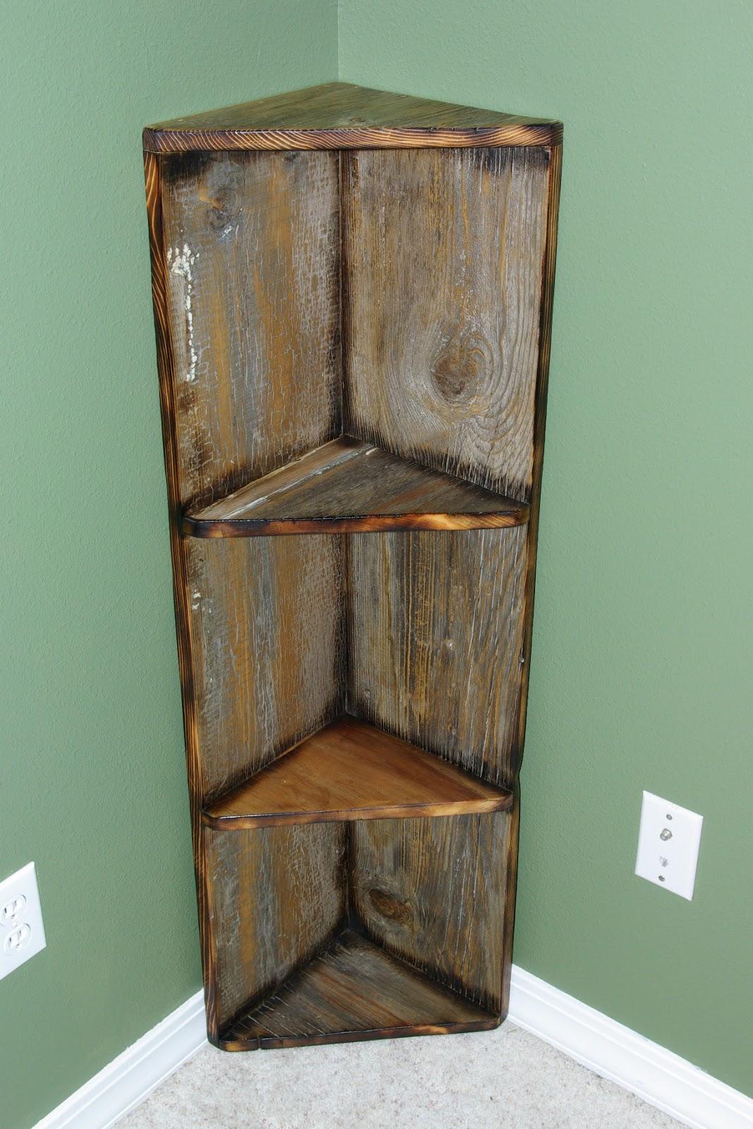 Reclaimed Rustics Barn Wood Corner Shelf