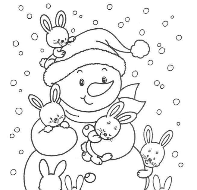 Coisinhas Para Crianças: Boneco De Neve Para Colorir
