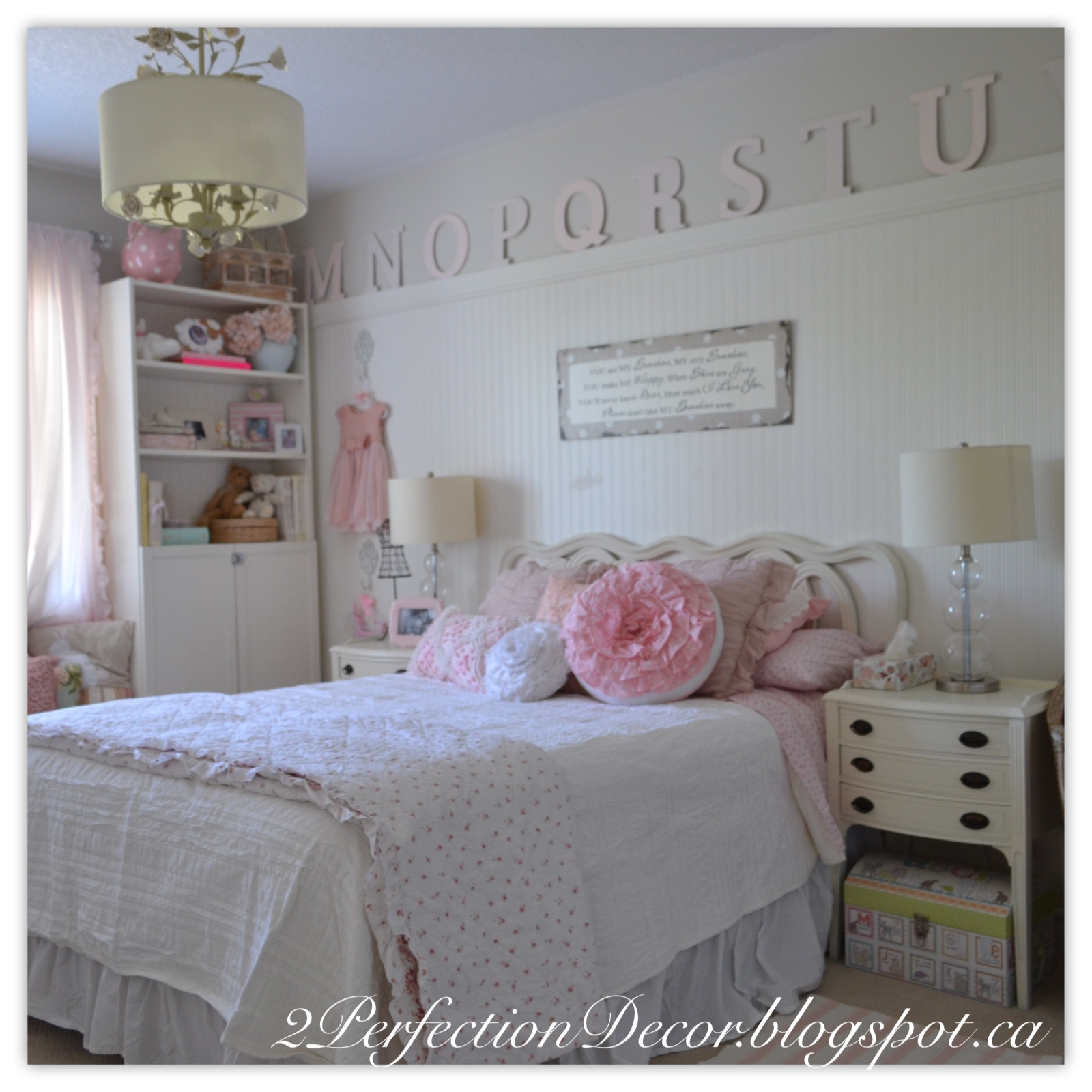 Perfect The bedding is a eclectic mix The coverlet and sheets are all part of the Shabby chic collection at Target I love to mix and match and here was no