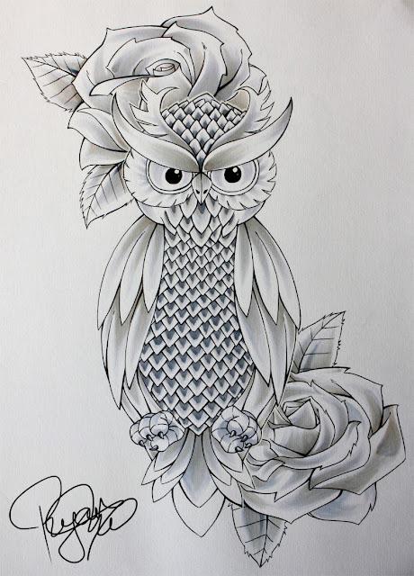Desenhos De Tatuagens De Corujas