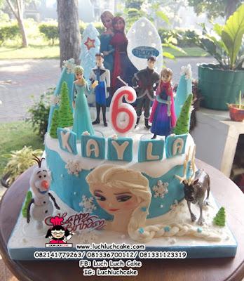 Kue Tart Ulang Tahun Frozen Untuk Anak Perempuan