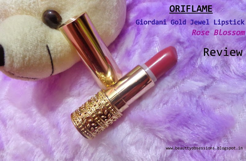 "Review - Giordani Golden Jewel Lipstick ""Rose Blossom"" from Oriflame Cosmetics"