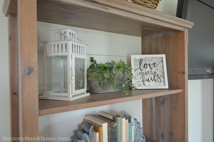 Lantern greens and love shelf