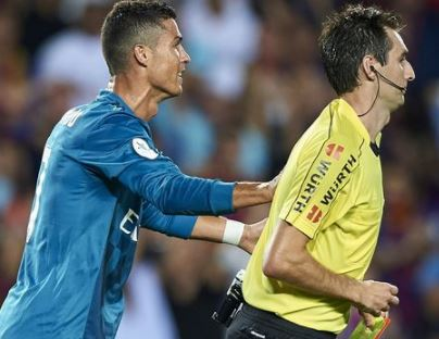 Cristiano Ronaldo bags five-game ban for shoving referee during Barcelona vs Real Madrid Spanish Super Cup clash