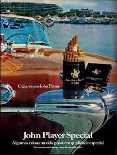 propaganda John Player Special - 1979; propaganda anos 70; história decada de 70; reclame anos 70; propaganda cigarros anos 70; Brazil in the 70s; Oswaldo Hernandez;