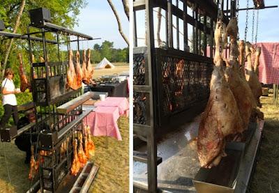 Traiteur barbecue région parisienne - gigot d'agneau à la ficelle