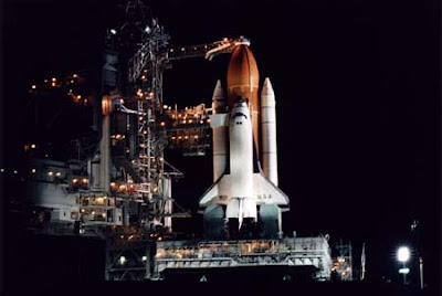 NASA Columbia Space Shuttle image where the Black Triangle UFO was seen from.