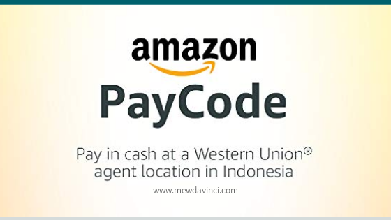 Cara bayar tagihan Amazon pakai WU Amazon PayCode