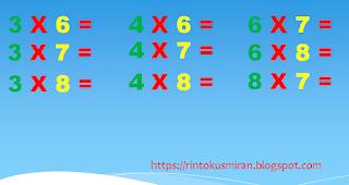 perkalian angka yang belum diketahui