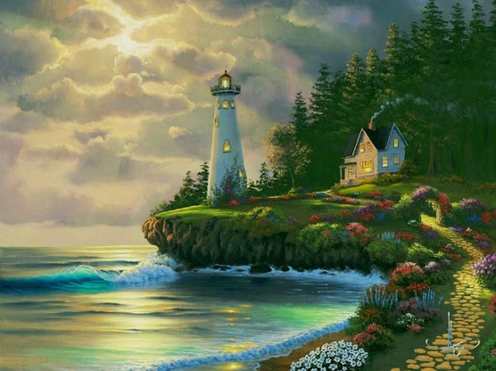 Im genes arte pinturas paisajes de haw i pintura leo for Pintura ligera de color topo