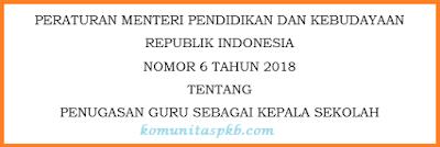 Permendikbud No. 6 Tahun 2018