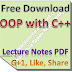 Lecture Notes on OOP with C++ PDF Download