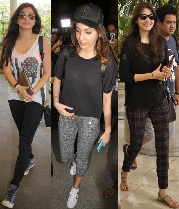 Anushka Sharma in super chic airport style
