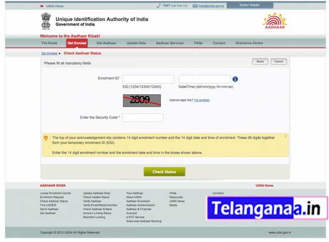 Aadhar Card Online Status How to Check Aadhar Card Online Status by Name/Enrolment No