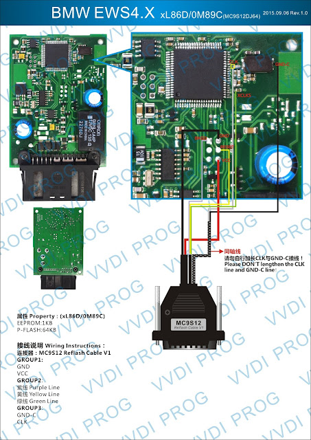 BMW-EWS4.4 How to use VVDI Prog for BMW EWS4 xL86D/0M89C Technology
