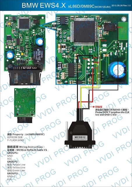 BMW-EWS4.4 How to use VVDI Prog for BMW EWS4 xL86D/0M89C Technology