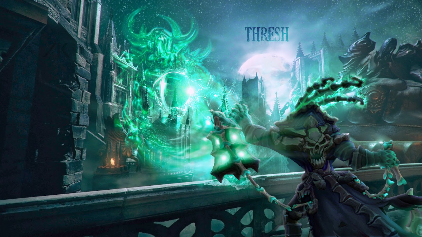 thresh league of legends wallpaper thresh desktop wallpaper