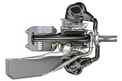 vista superiore motore Renault Sport V6 Turbo 2014