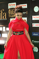 Apoorva in a Stunning Tight Leg Split Sleeveless Red Gown at IIFA Utsavam Awards 015.JPG