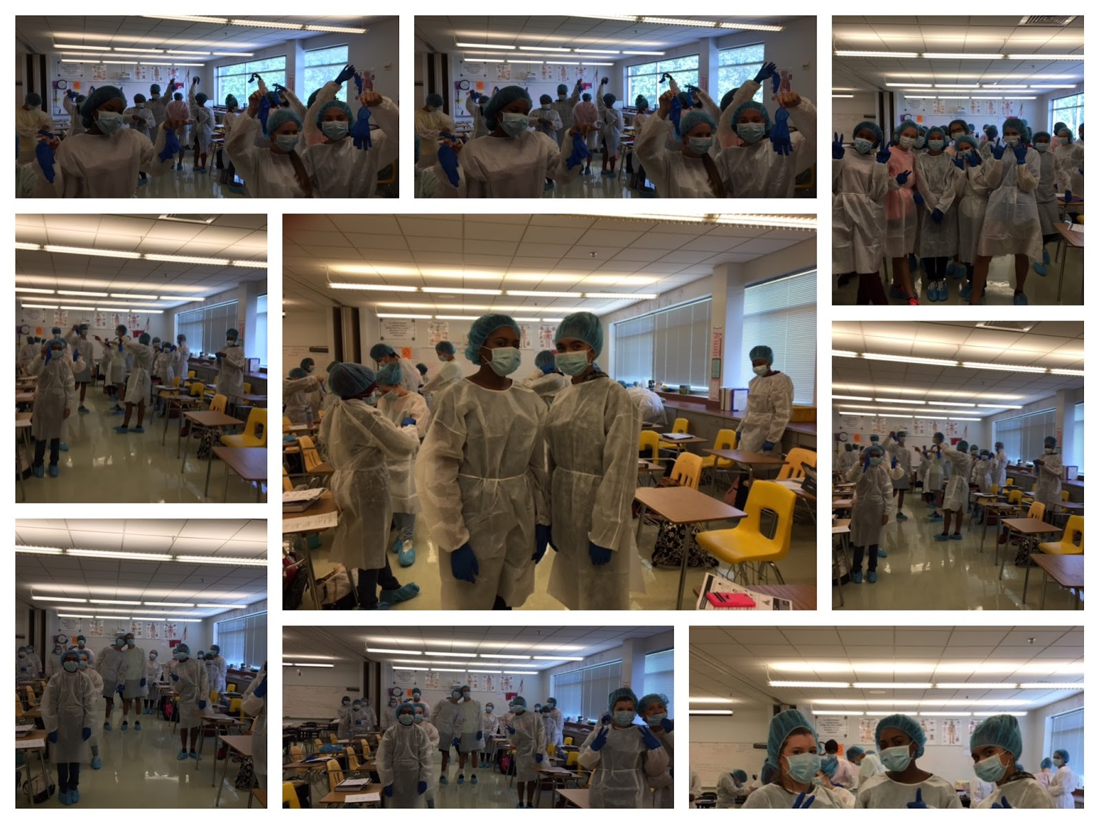 Raiders Revealed: Gloving Gowning In Healthcare Science Class