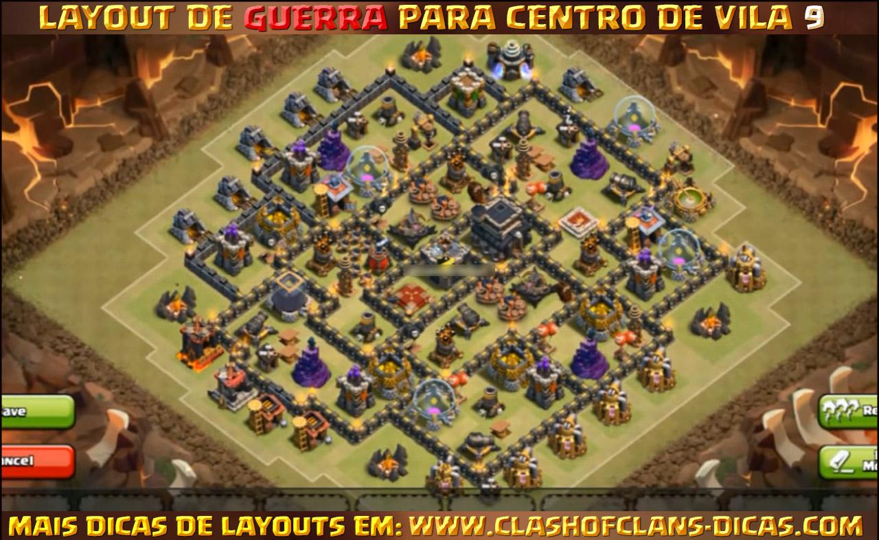 Layouts para CV9 em Guerra - Clash of Clans Dicas