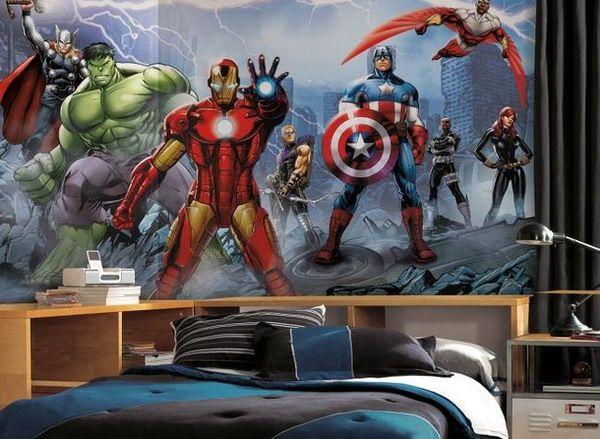 Tapetti Lastenhuoneeseen Marvel Avengers Iron Man Hulk Tapetti valokuvatapetti lapsia lasten tapetti lastenhuone tapetti poikien huoneen tapetti