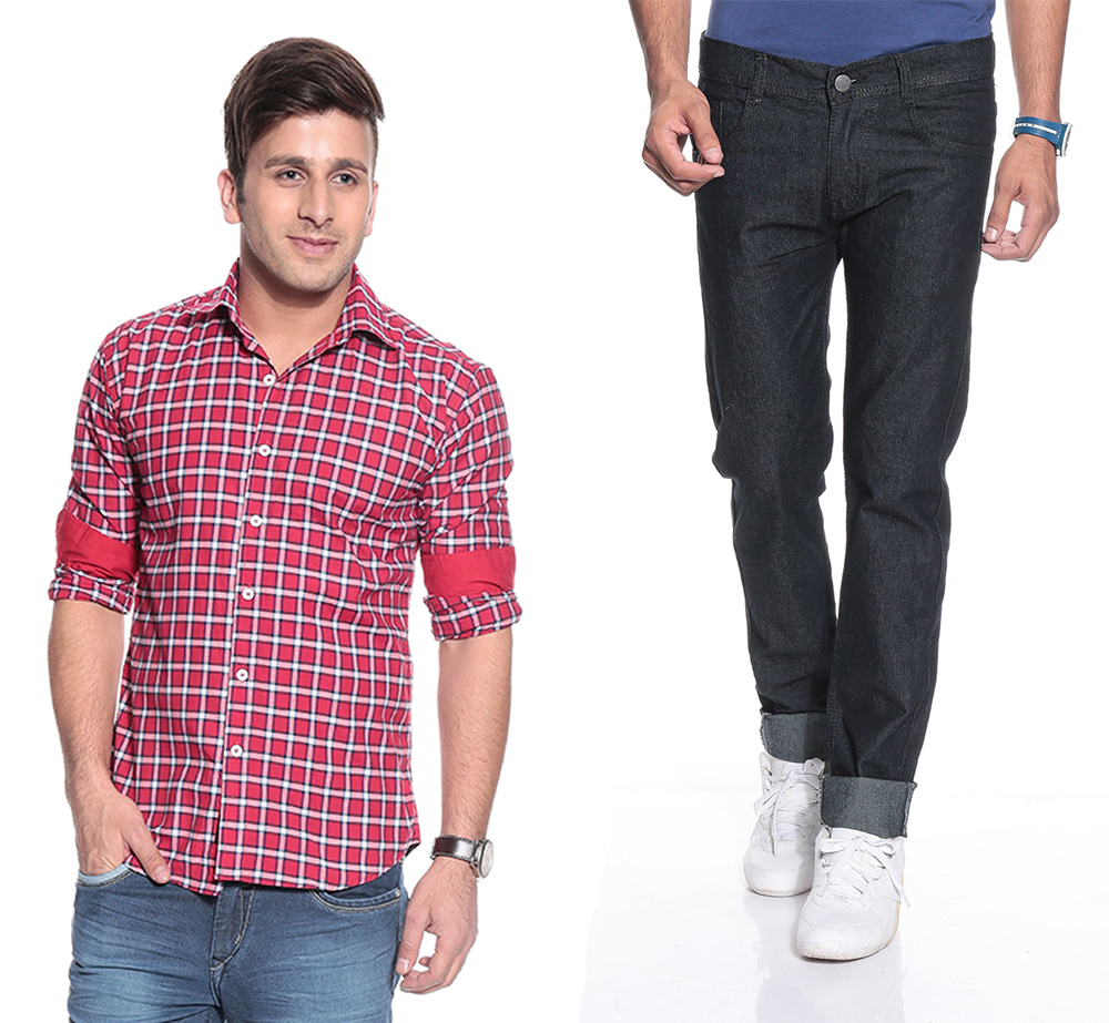 Mens Clothing - Shop from the latest collection of Apparels for Men Online in India. Choose from wide range of mens fashion apparels by top brands on Myntra. Buy wide range of clothing for men, like T-shirts, jeans, shirts, kurtas, briefs, track pants, sweaters etc from the top brands.