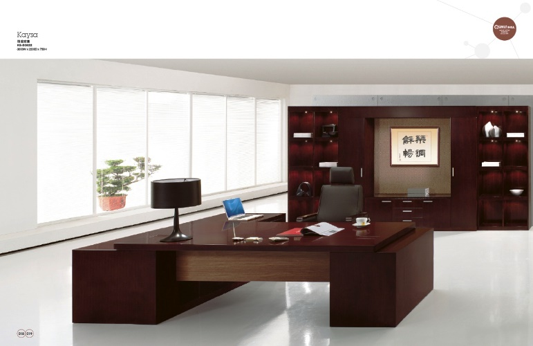 European Office Furniture Sets Dark Wood Luxury Design Ideas For Executive With Elegance Table Lamp