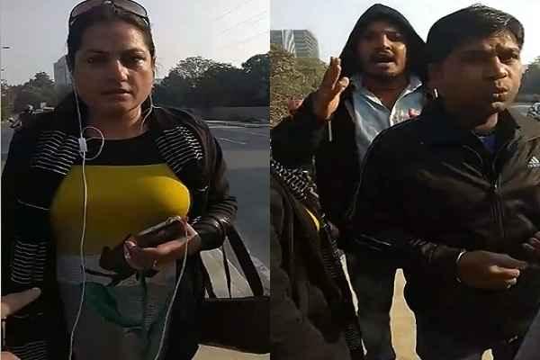 gurugram-police-gundagardi-live-misbehaves-with-women-bobby-kataria-supporter