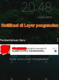 notifikasi di layar penguncian