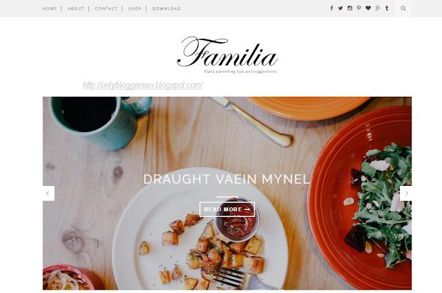 Familia Blogger Template Free Download