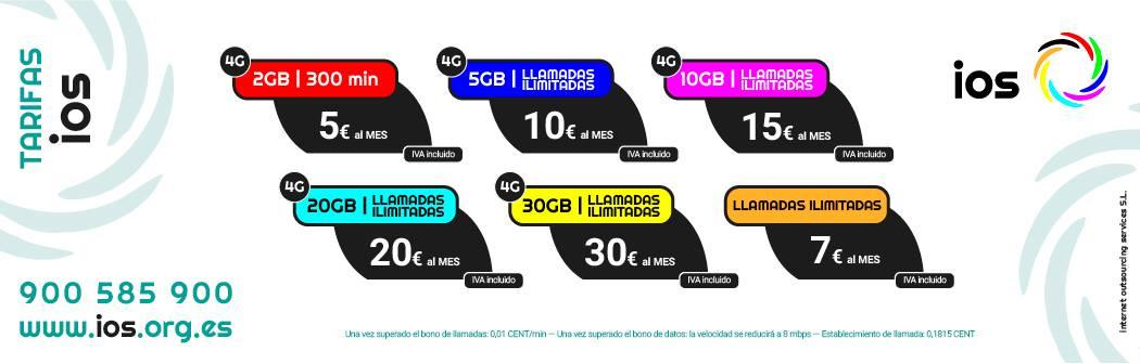 Catálogo tarifas IOS Móvil