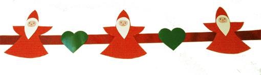 Guirnalda navideña decorada con   Papá Noel
