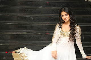Telugu Actress Mahima Makwana Stills in White Desginer Dress at Venkatapuram Movie Logo Launch  0258.JPG