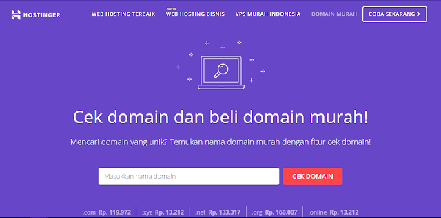 cek domain hostinger