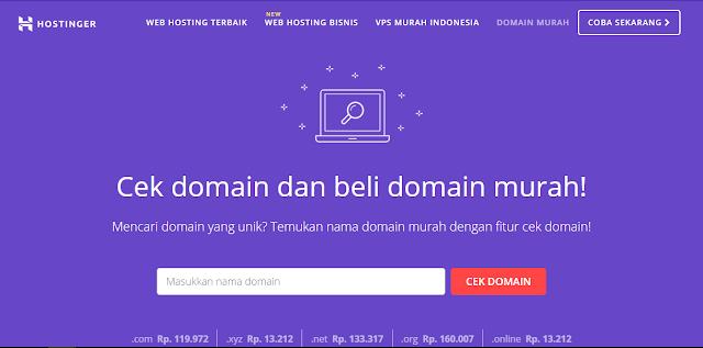 cek domain hostinger