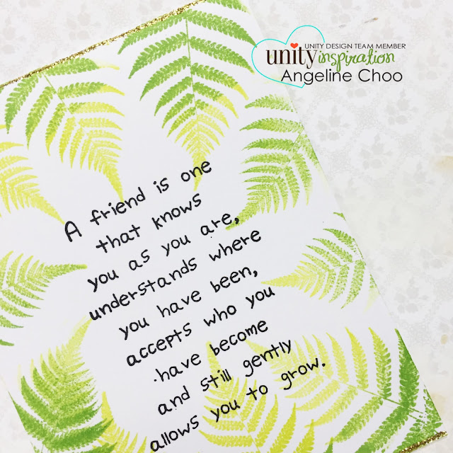 Unity Stamp: Inspiration Wednesday with Angeline #unitystampco #scrappyscrappy #stamp #stamping #kotm #nature #card #cardmaking #papercraft