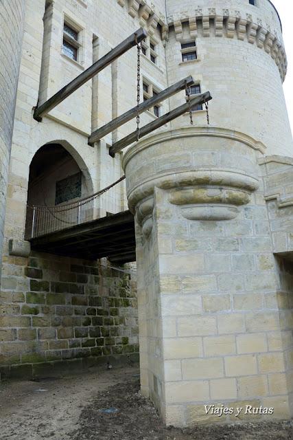 Puente levadizo del Castillo de Langeais, Valle del Loira, Francia