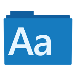Preview of System, Fonts Icon
