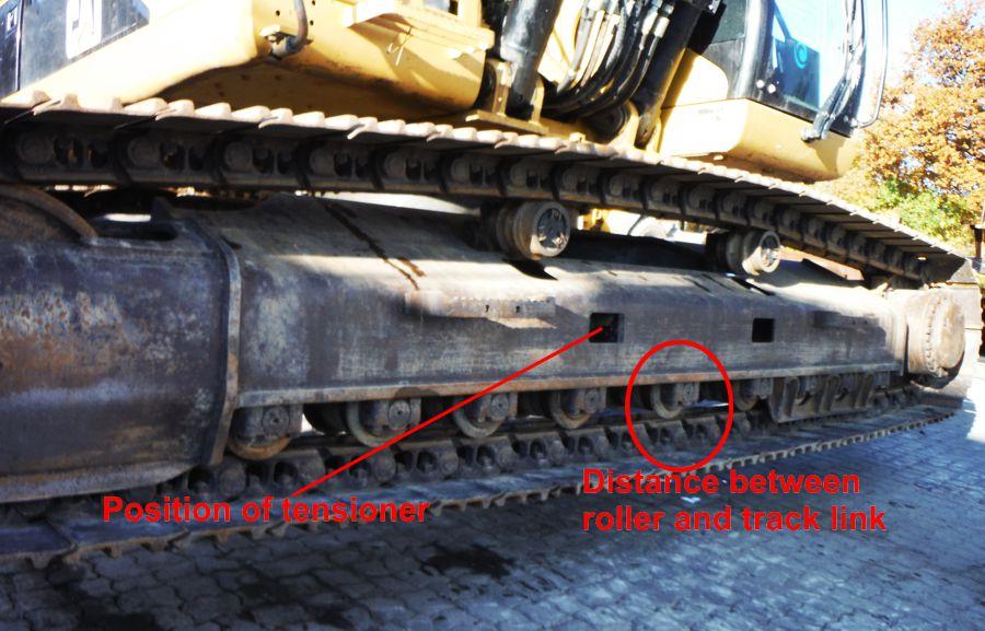 Tracked Excavator - Chain Tension Adjustment | MEVAS
