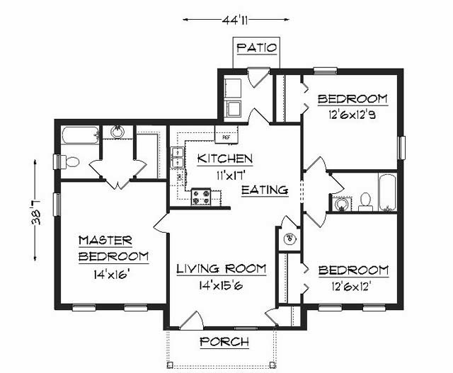 Residential Building Elevation and Floor Plan