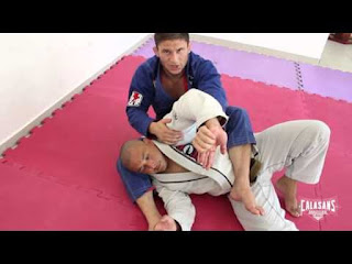 Wrist lock from back control