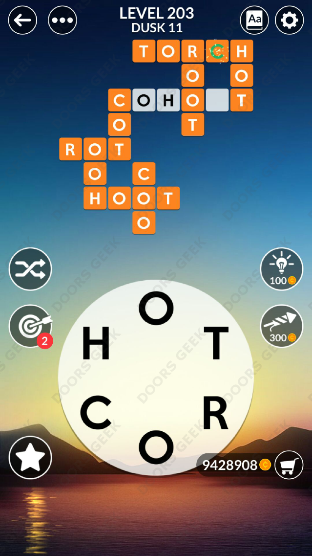 Wordscapes Level 203 Answers Doors Geek