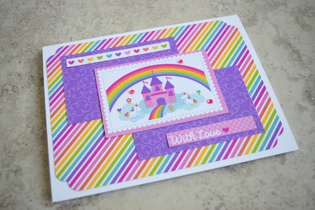 Card using Doodlebug Fairy Tale by Jess Crafts #doodlebug