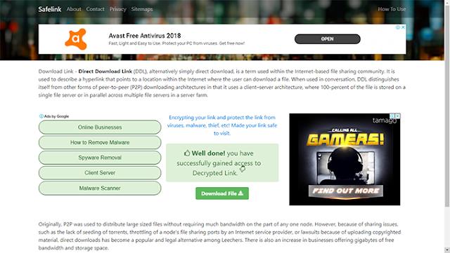 Download Premium Kompi Safelink V3 Blogger Tempate