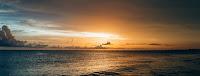 beach clouds dawn