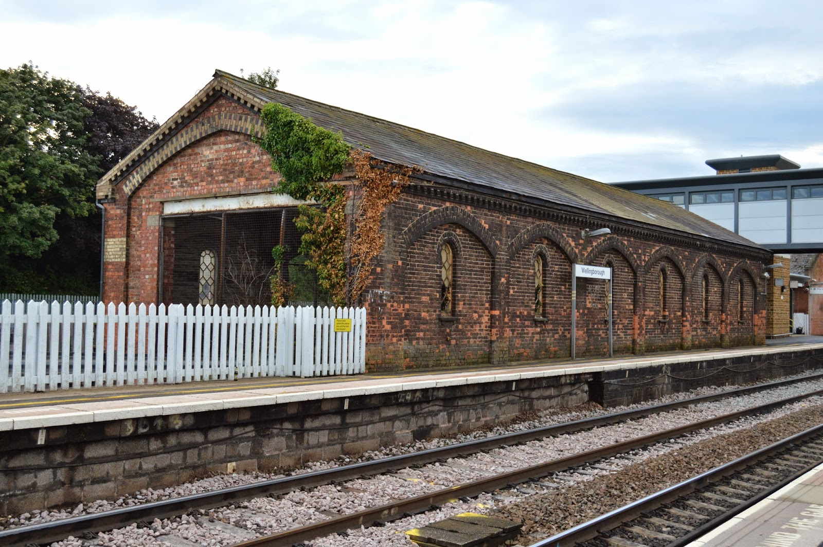 Wellingborough goods shed, built in late Victorian times for the London Midland & Scottish Railway, has survived in much the same condition as it was when built.  Luckily the building is now under protection as Grade II listed builings.