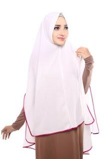 Gambar Jilbab Instan Warna Putih