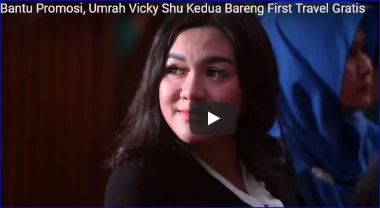 Bantu Promosi, Vicky Shu Dapet Umrah Gratis Dari First Travel