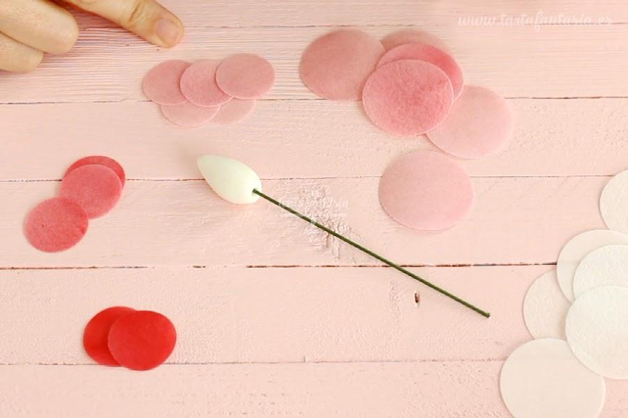 Tutorial rosas de papel de oblea o wafer paper